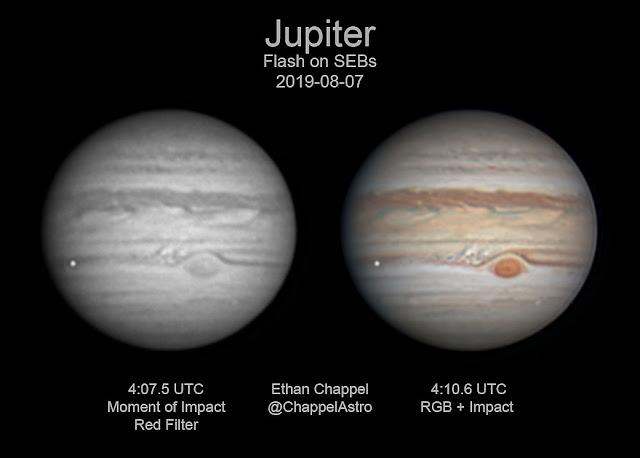 impacto em Júpiter agosto 2019