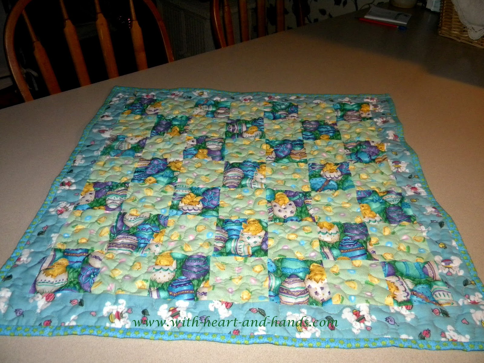 Free Quilting Patterns For Spring : Michele Bilyeu Creates *With Heart and Hands*: Free Easter, Spring, and Passover Quilt and Craft ...