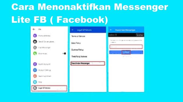 Cara Menonaktifkan Messenger Lite FB