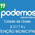 Partido PODEMOS divulga Edital convocando membros para Convenção Municipal na Cidade de Goiás