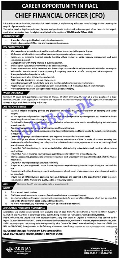 Pakistan International Airlines PIA Jobs 2021 – Apply via piac.com.pk/careers