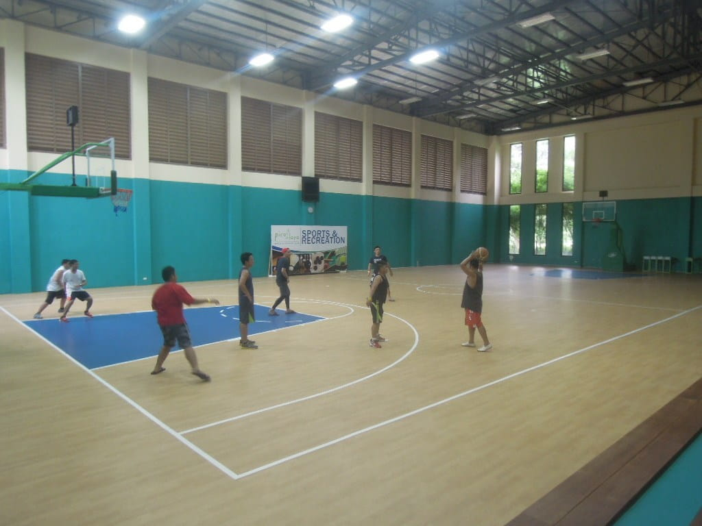 Playing basketball at tne Pico de Loro Beach & Country Club