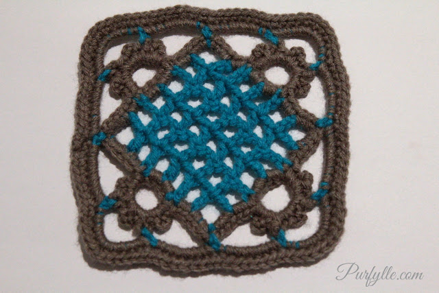 Eivor's Crochet Granny Square row 11
