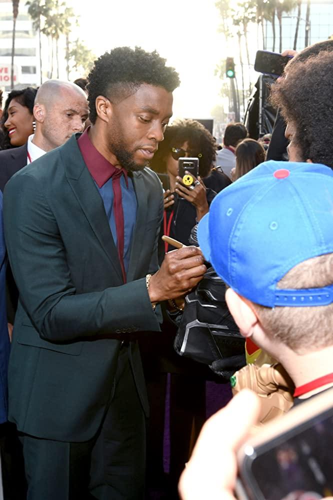 Chadwick Boseman at an event for Avengers: Infinity War (2018)
