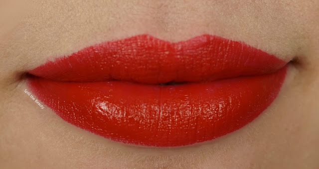 Quo Colour Lust Lipstick Review Swatches red devil swatch