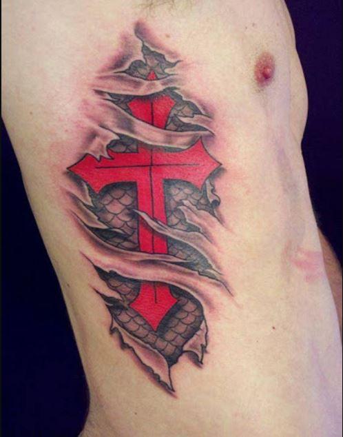 bad cross tattoos