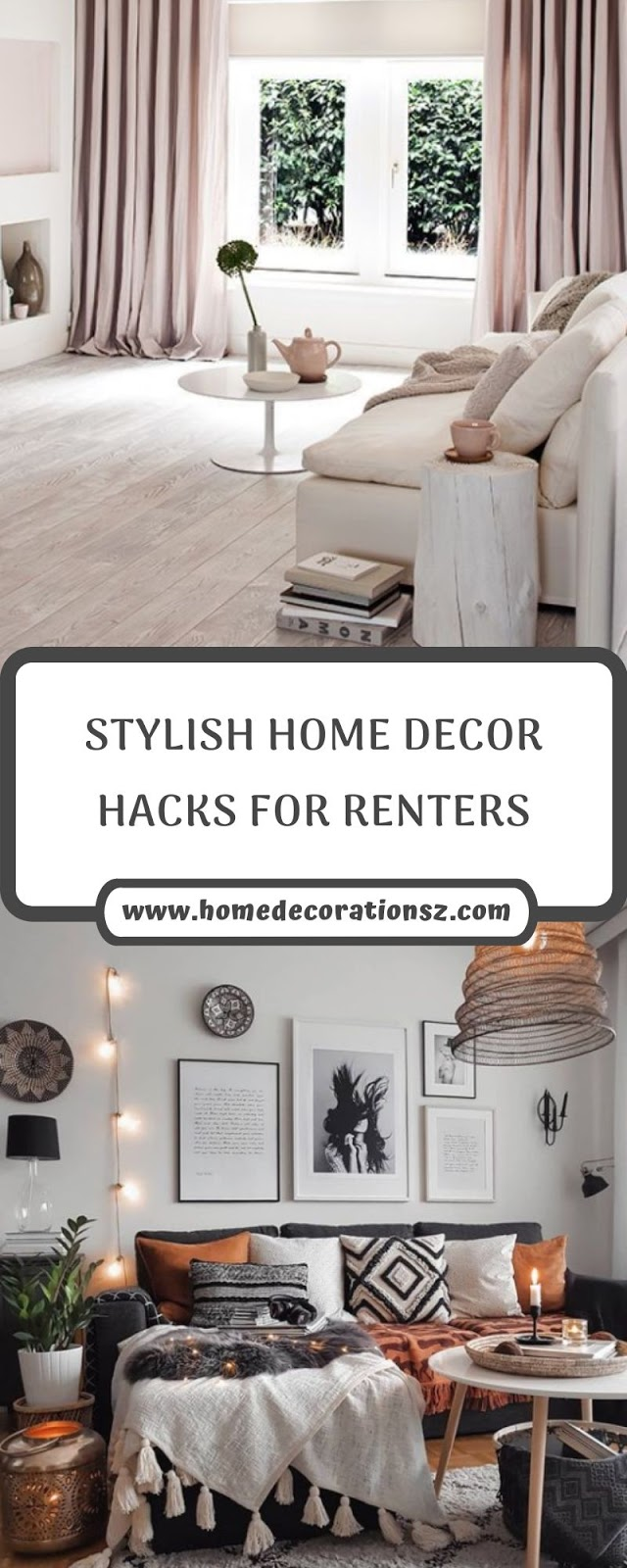 STYLISH HOME DECOR HACKS FOR RENTERS