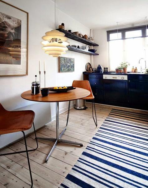 inspiracje w moim mieszkaniu Skandynawska biało czarna kuchnia Scandinavian   -> Kuchnia Bialo Czarno Drewniana