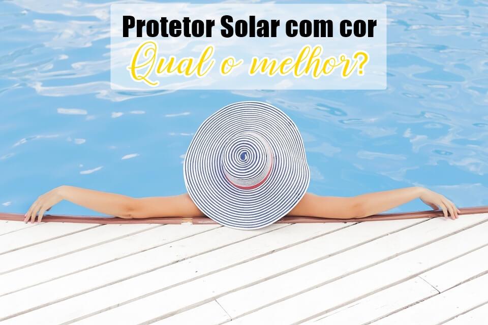 Protetor solar com cor