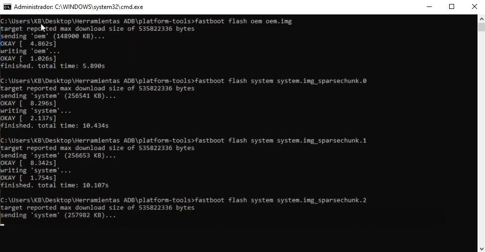 Flashear, cargar firmware de fábrica Motorola Moto G5 y Moto G5 Plus paso a paso