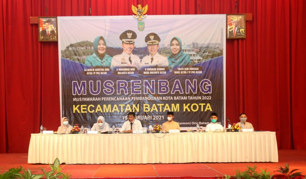 Walikota Batam Membuka Musrenbang Tingkat Kecamatan Batam Kota