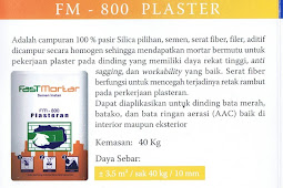 SPESIFIKASI DAN KEUNGGULAN FM-800 PLASTER DINDING PREMIUM