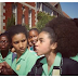 Pictures of Black schoolgirls in South Africa protest after being told to straighten their hair
