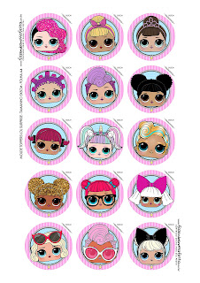 LOL Surprise: Free Printable Cupcake Toppers.