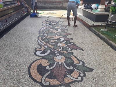 Desain Motif Batu Sikat Bali