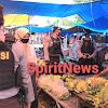Gelar Operasi Lilin, Sat Sabhara Polres Takalar Memantau Penerapan Prokes di Pasar