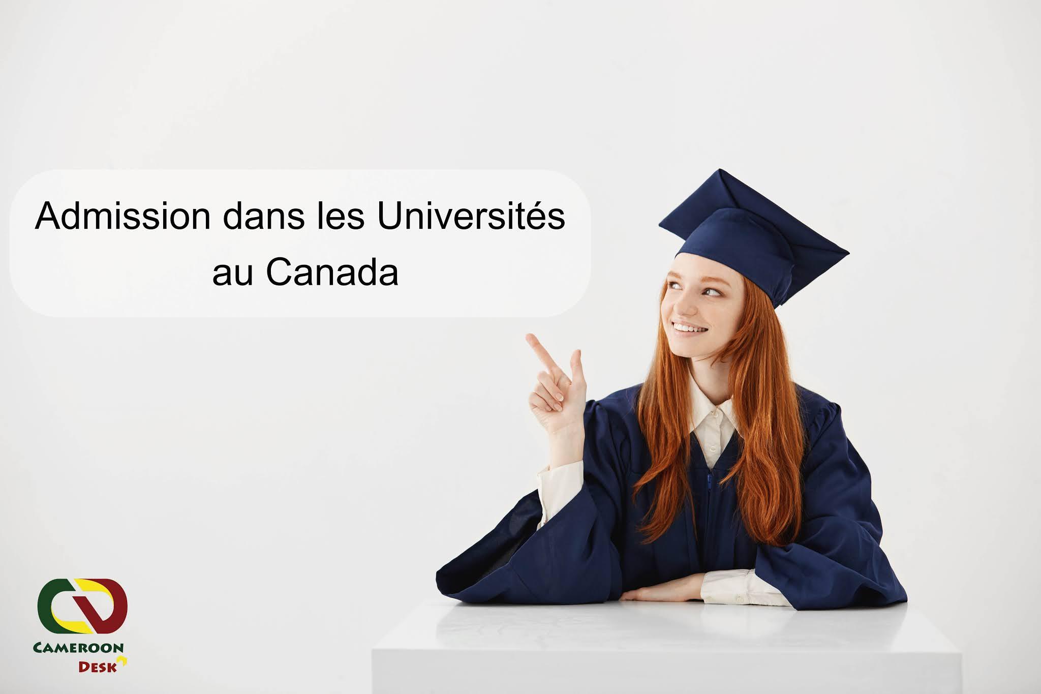 Admission dans les Universités au Canada