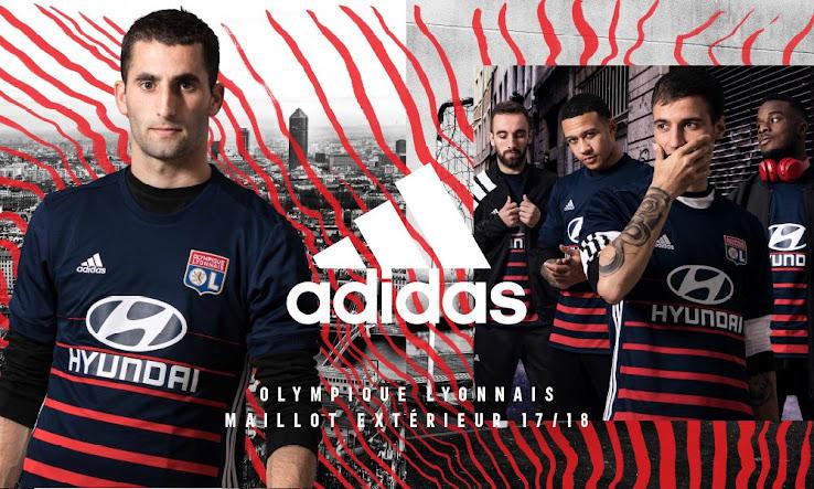 Olympique Lyon 17-18 Away Kit Released - Footy Headlines da49e21c4