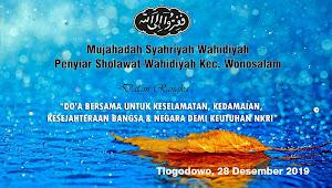 Mujahadah Syahriyah Wahidiyah Kec Wonosalam di Desa Tlogodowo