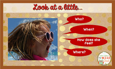 """Learning standards across the country are """"upping the game"""" for all students, including our earliest learners. This post gives ideas for teaching inferences to those early students. Starting with pictures and ending with words can just be the key to reading comprehension."""