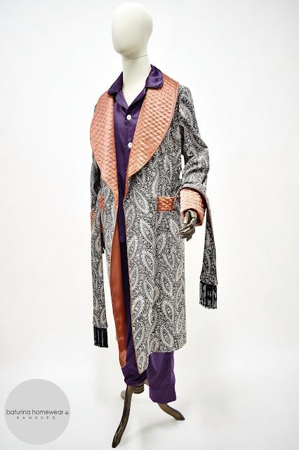herren hausmantel paisley baumwolle morgenmantel gesteppt seide lang warm gefüttert edel elegant