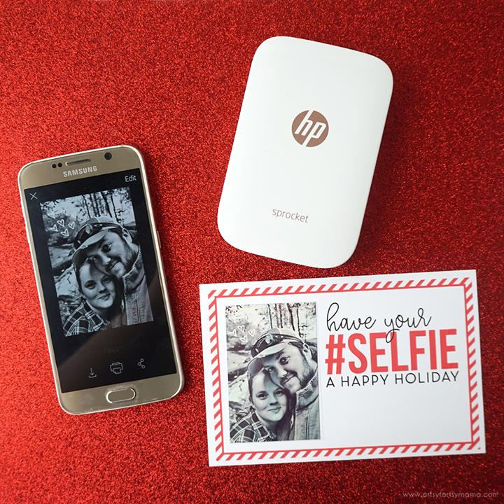 Free Printable Holiday Selfie Card