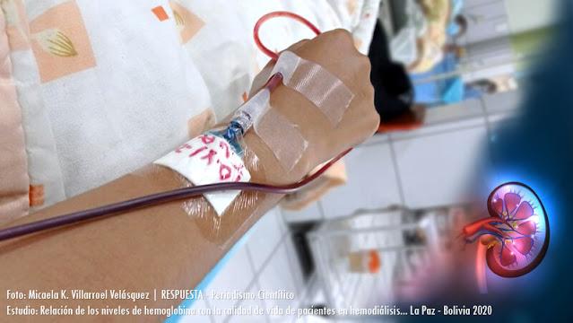 Relacion de niveles de hemoglonina frente a la calidad de vida de los pacientes en hemodiálisis