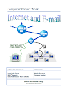 'Internet and Email' - My First Sem Computer Project Work