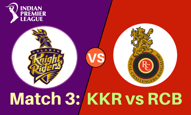 Kolkata Knight Riders vs  Royal Challengers Bangalore Full Scorecard: Match 3