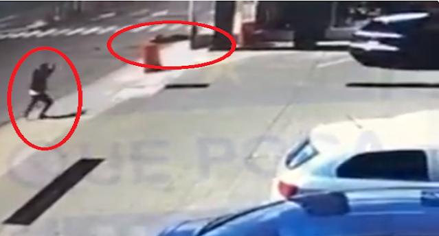 Video: Una Rata menos, Escolta ejecuta a ladrón que intento tumbarle a su patrón, mientras iba corriendo le dio a lo lejos y lo mato
