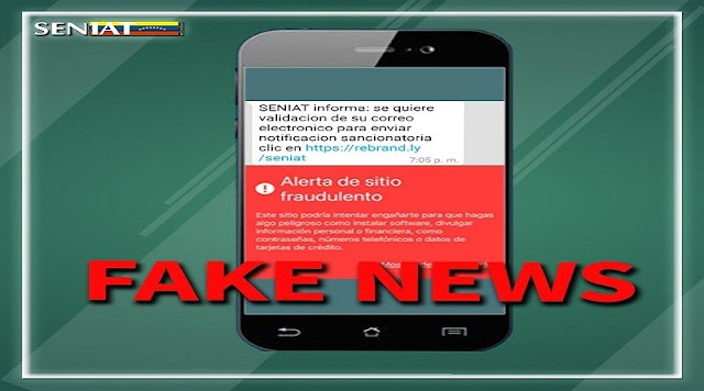 Seniat advierte: a contribuyentes sobre sitio web fraudulento