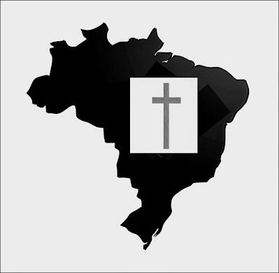 A foto mostra o mapa em  preto do Brasil e a cruz, significa que  neste país  é impossível não morrer precoce.