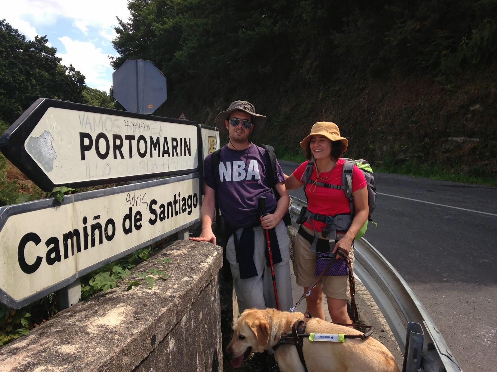 El cartel de Portomarin