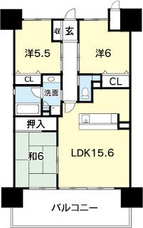 徳島市 東新町 アルファステイツ 分譲 賃貸 3LDK