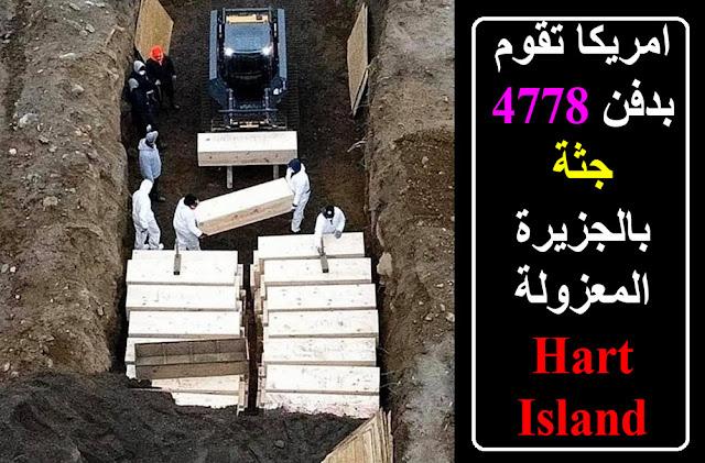 شاهد بالصور امريكا تقوم بدفن 4778 جثة بالجزيرة المعزولة Hart Island