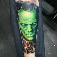tatuaje para halloween frankenstein