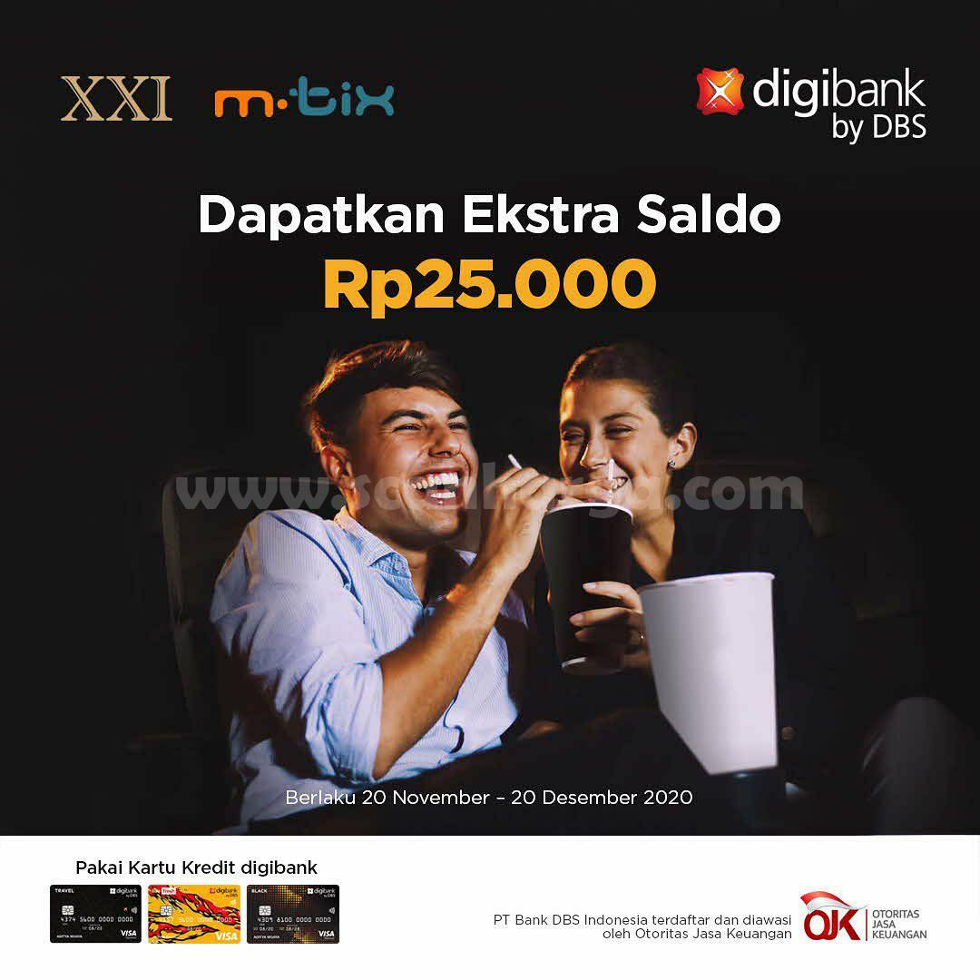 Cinema XXI Promo Digibank – Dapatkan Ekstra Saldo Rp 25.000