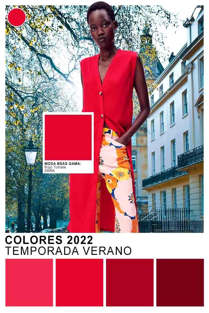 Rojo color de moda verano 2022