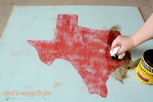 Aging Paint with Stain