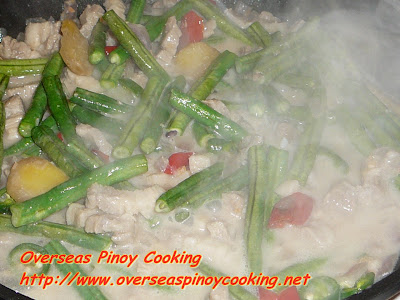 Ginataang Sitaw - Cooking Procedure