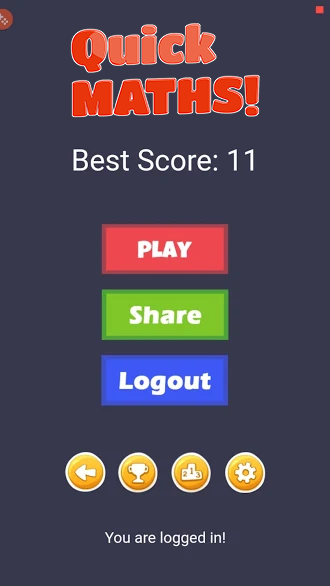 Quick Maths - HTML5 Game + Mobile Version + ADMOB-GDPR + Leaderboard + Achievement (Construct 2/3) - 1