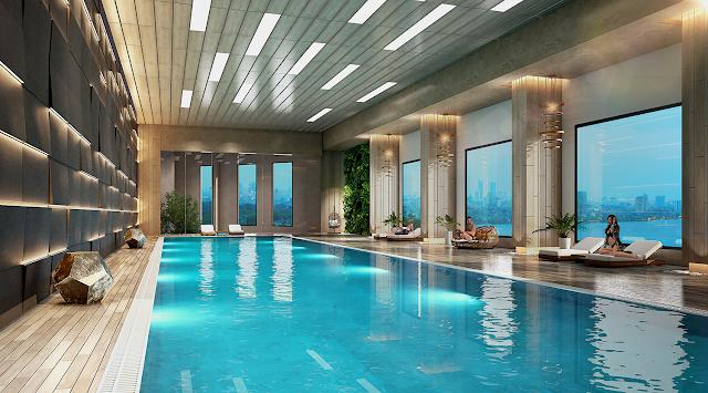 Bể bơi chung cư D'. El Dorado Premium