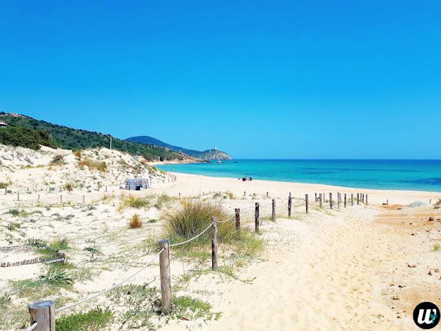 Chia beach entrance | Sardinia, Italy | wayamaya