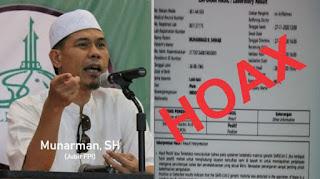 FPl Minta Aparat Usut Hoax Hasil Swab HRS, Jangan UU ITE Hanya Dipakai Bungkam Kritik