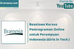 Beasiswa Kursus Pemrograman Online untuk Perempuan Indonesia (Girls in Tech )