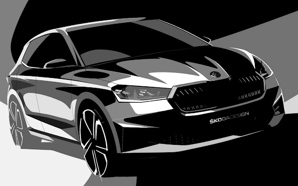 Novo Škoda Fabia 2022 tem esboços de design divulgados
