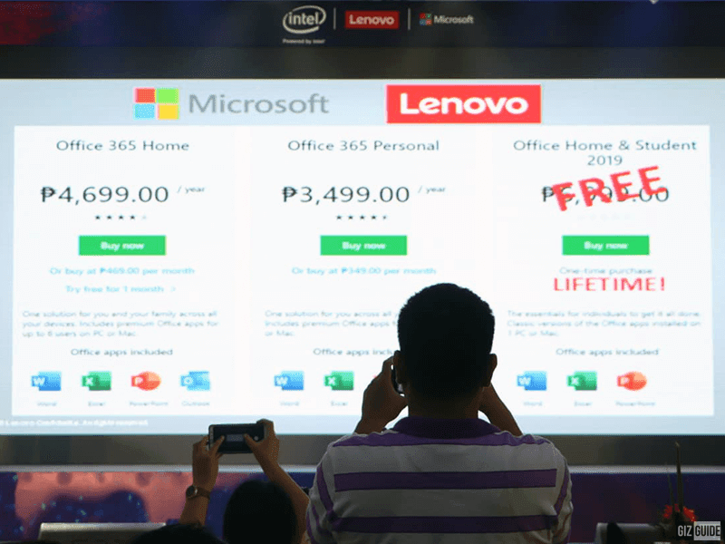 Microsoft and Lenovo are offering free perpetual Office 2019!