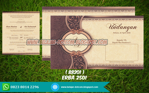 Download Settingan/Desain Undangan ERBA 88201 (2501)
