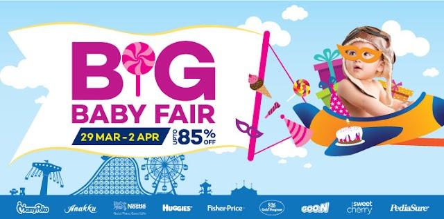 Diskaun Hingga 85% Barangan Anak di Lazada Big Baby Fair Sekarang!!!