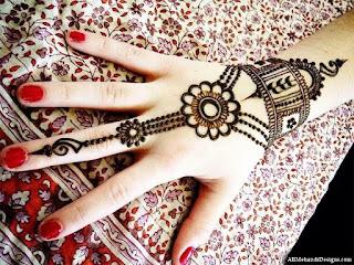 Latest Arabic Mehndi Design For Full Hand